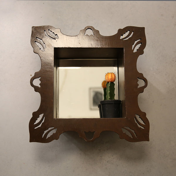 Mirror Wooden Shelf