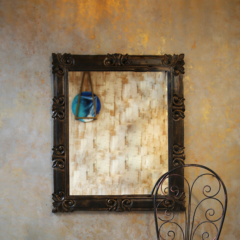 Carved Brown Mirror Frame