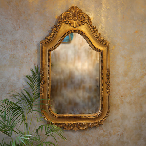 Carved Gold Mirror Frame