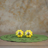 Yellow Flower Knobs (Set of 2)