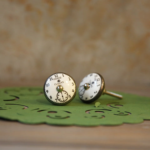 Vintage Clock Knobs (Set of 2)