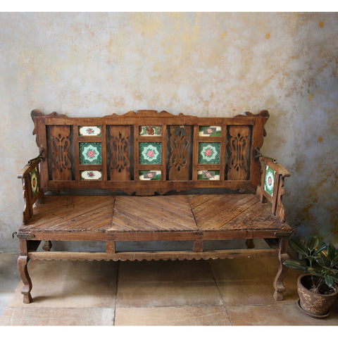Antique Tile Bench/Swing