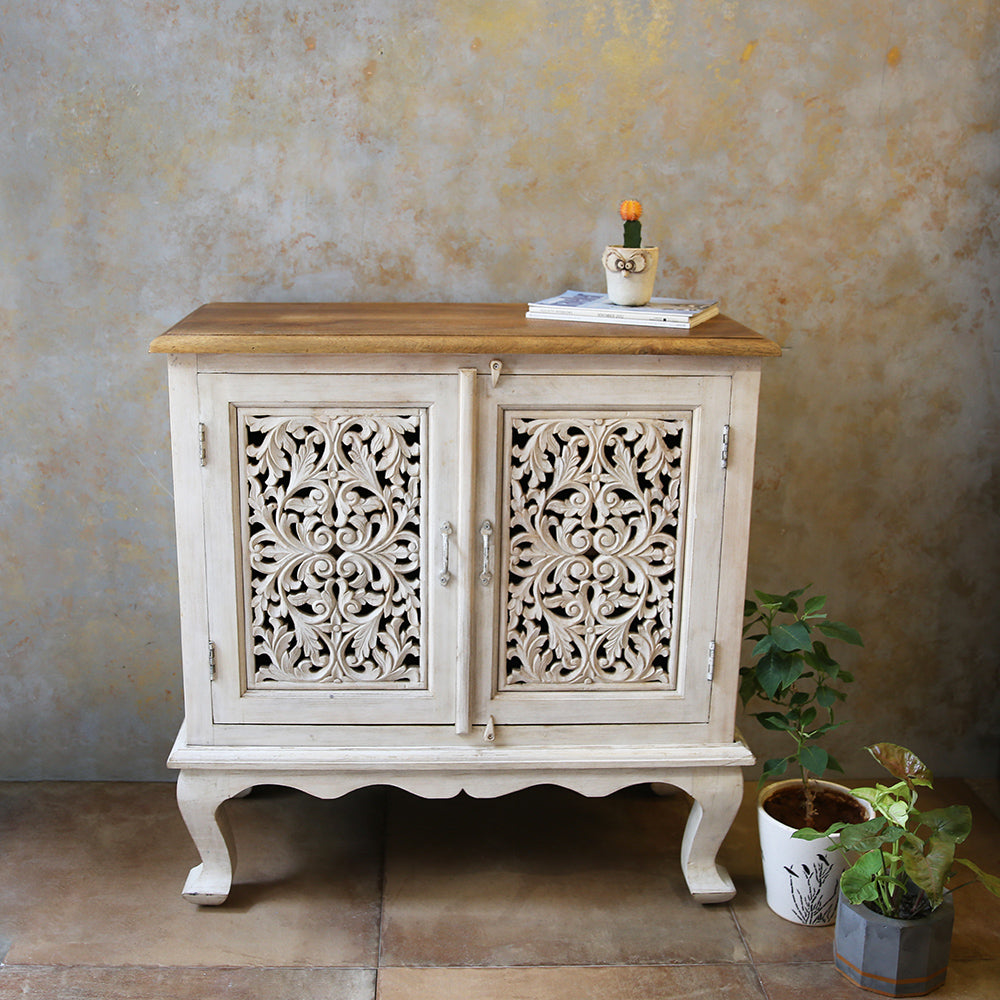 Carved Console/Sideboard with storage