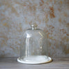Marble Plate with Glass Cloche (Single Piece)