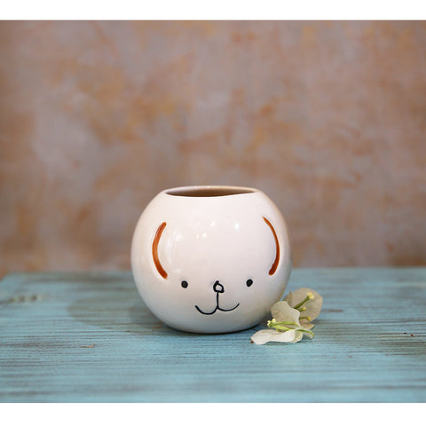 Ceramic Smiley Planter