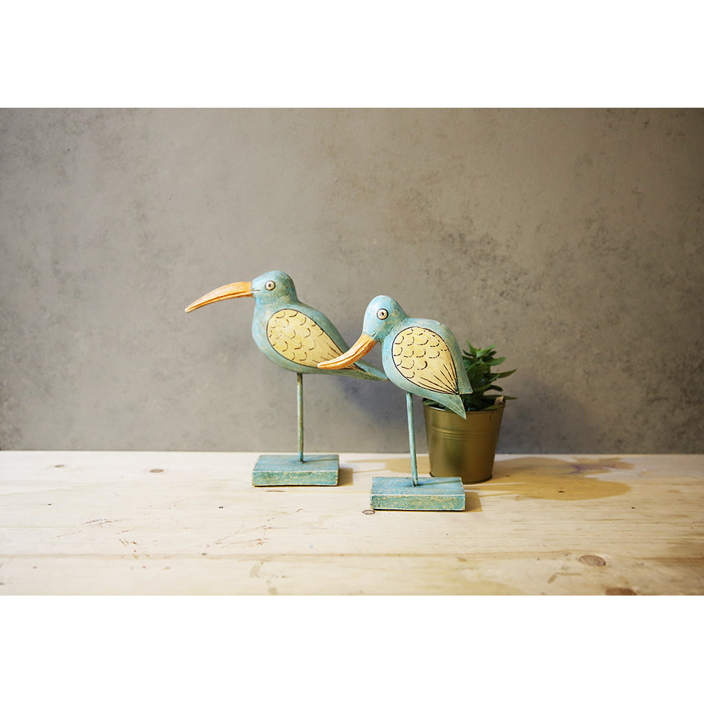 Set of Wooden Birds (Set of 2)