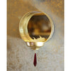 Round Mirror T-light Holder -Wall