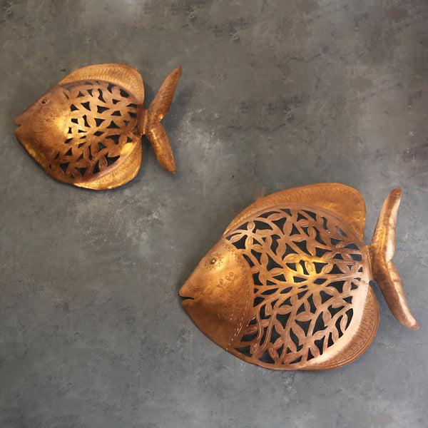 Copper Fish Wall Decor