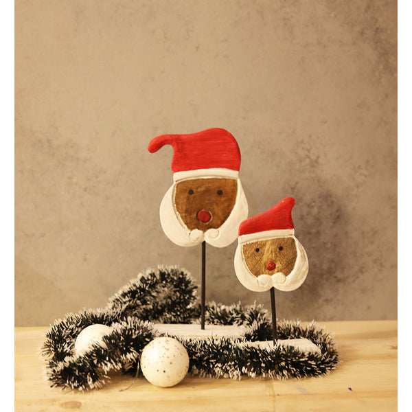 Set of Wooden Santa