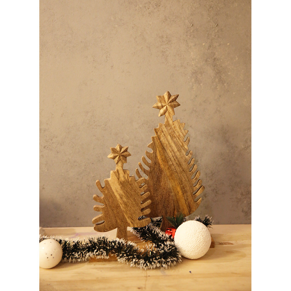 Set of Wooden Christmas Tree