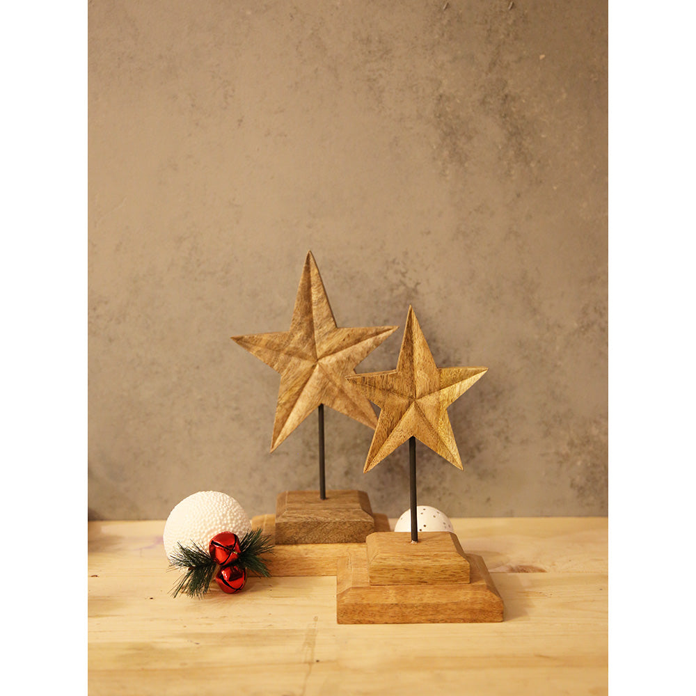 Set of Wooden Stars