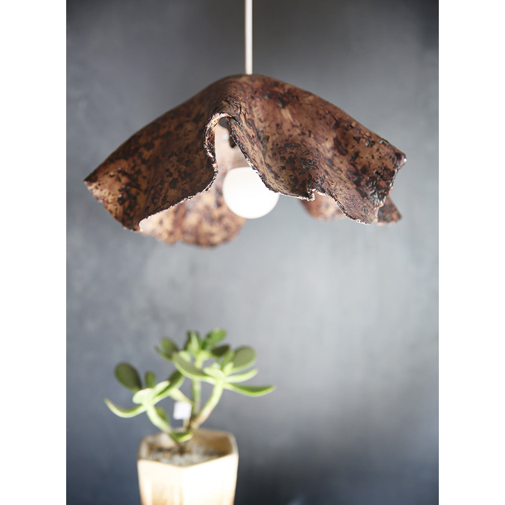 Ceramic Wabi Sabi hanging lamp