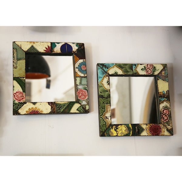 Antique Tile Mirror