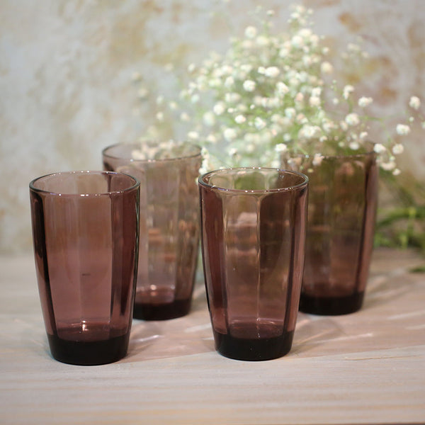 Purple Love Tall Glasses (Set of 4)