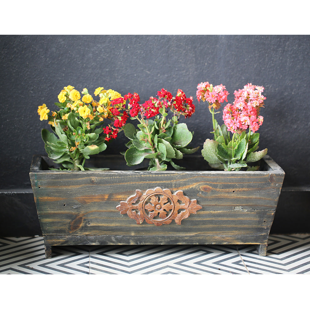 Rustic Wooden Planter