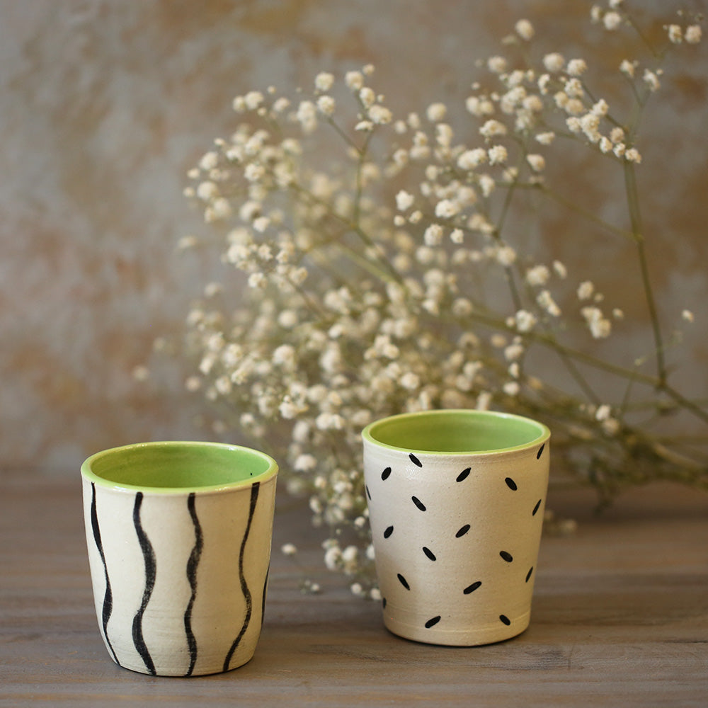 Lime Mini Tumblers (Set of 2)