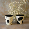 Black & White Mini Tumblers (Set of 2)