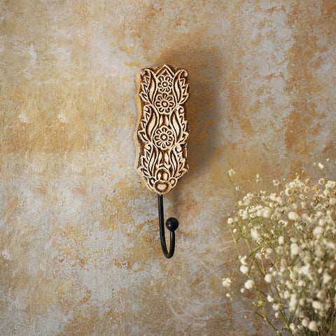 Carved Block Print Hook