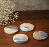 Marble & Wood Coasters (Set of 4)