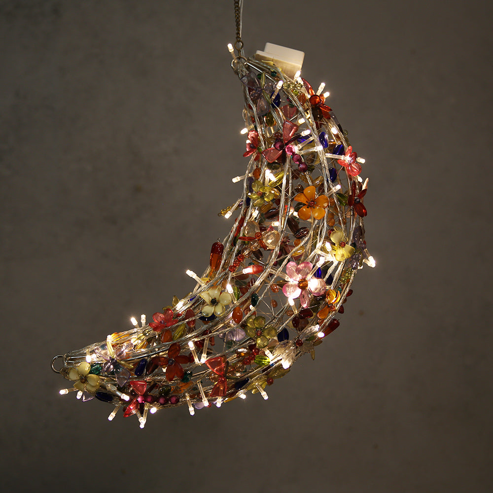 Bead Crescent Chandelier
