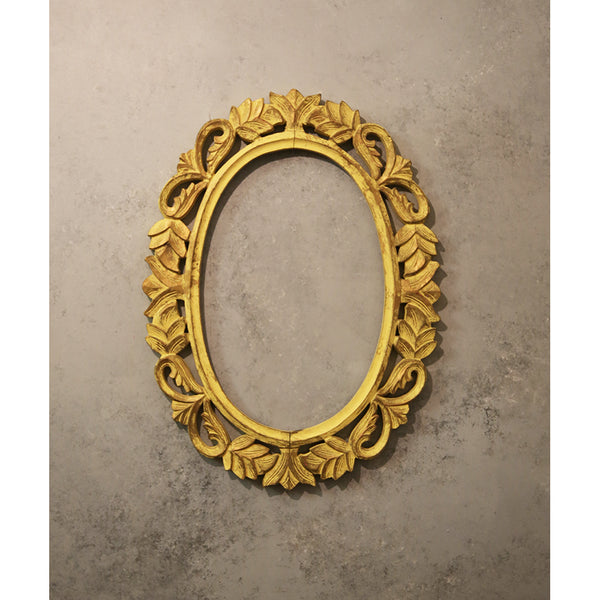Yellow Carved Frame