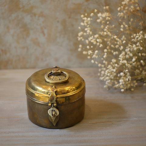 Antique Brass Box- M