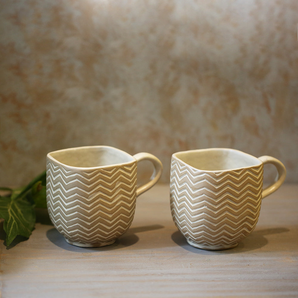 Patterned Tea Cups (Set of 2)