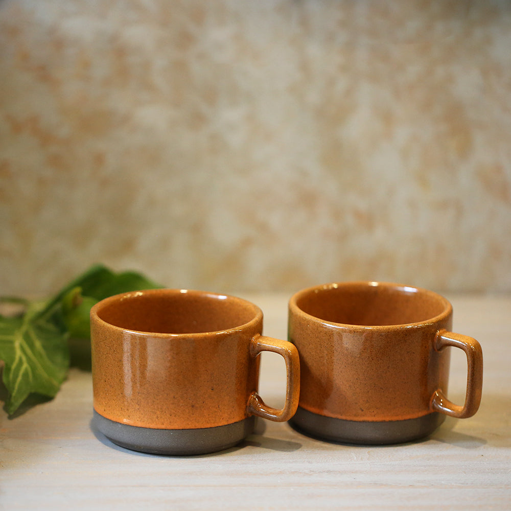 Orange Tea Cups (Set of 2)