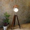Tripod Floor Stand with Wooden Shade