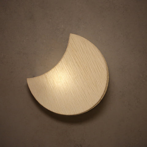 Decorative Banana Fibre Paper Moon Wall Light
