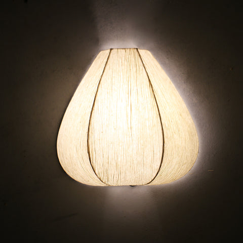 Decorative Banana Fibre Paper Lotus Wall Light