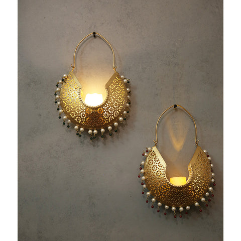 Jhumka Hanging T-lights (Set of 2)