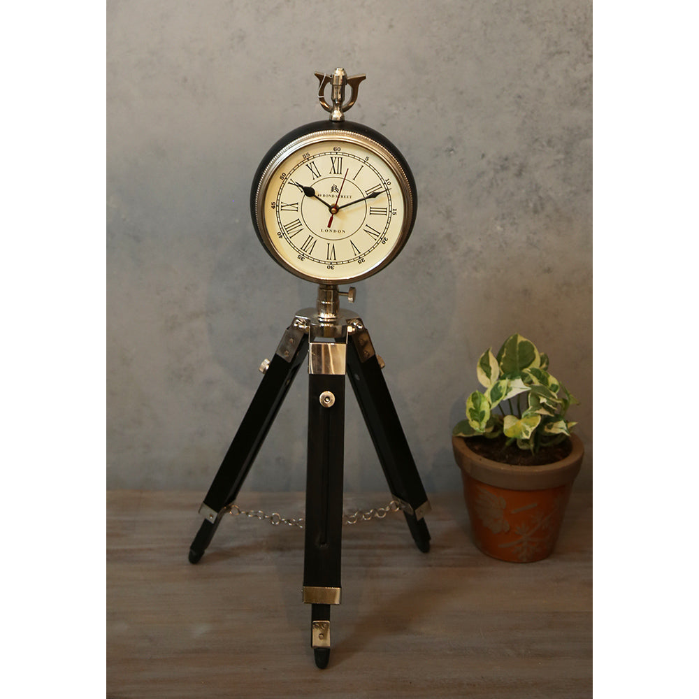 Vintage Clock Tripod Table Stand