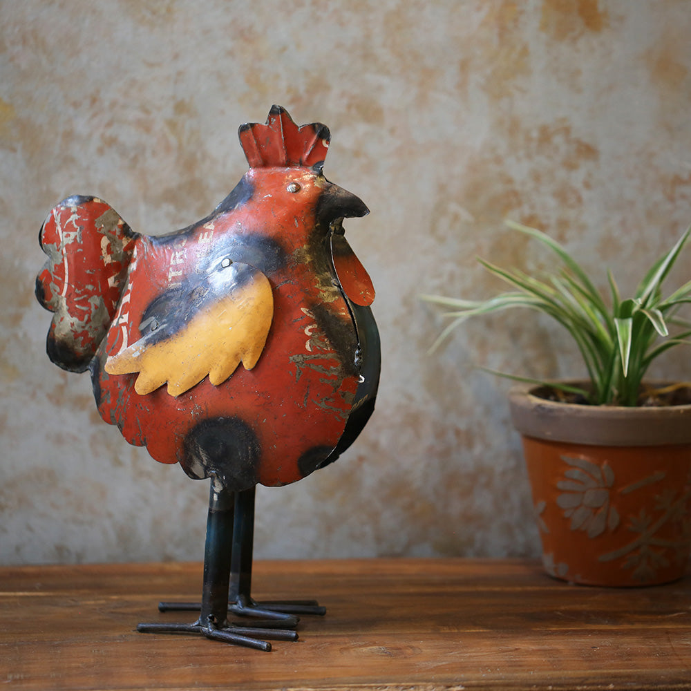 Recycled Tin Hen