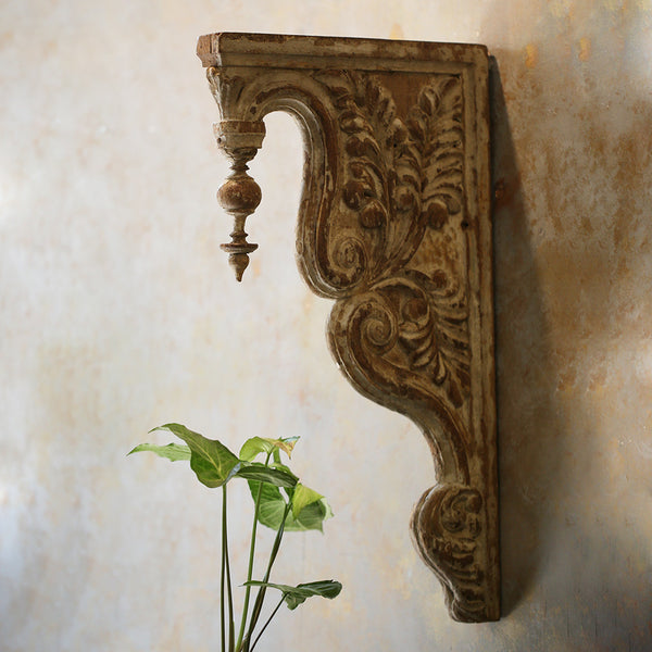 Antique Carved Side Panel