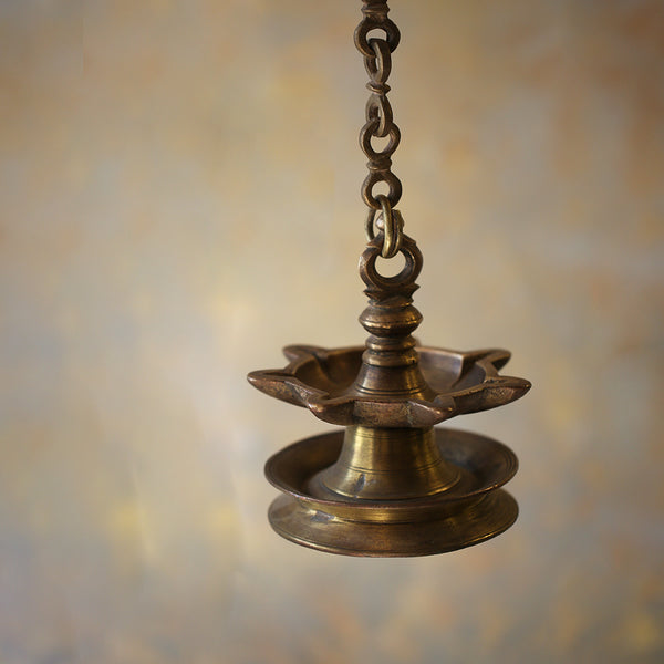 Antique Hanging Brass Diya