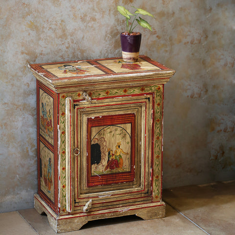 Antique Hand Painted Side Table