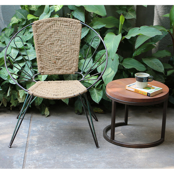Copy of Jute Woven Metal Chair