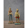 Antique Painted Wooden Man & Woman (set)