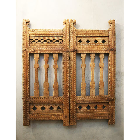 Wooden Carved Panel /Dog Gate
