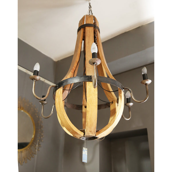 Antique Wood Chandelier