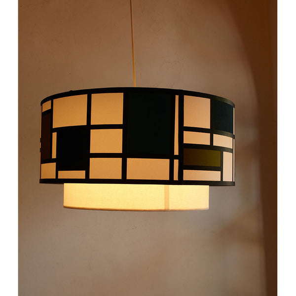 Mondrian Doublet - Blue Ceiling Lights