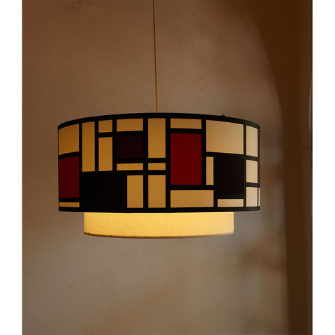 Mondrian Doublet - Red Ceiling Lights