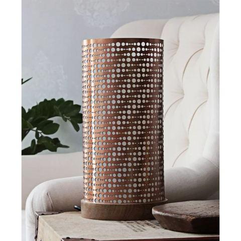 Copper Mesh Table Lamp