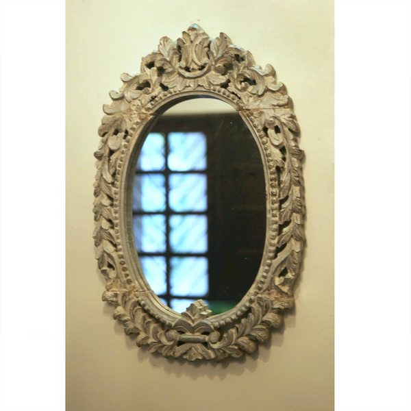 Oval Carved Mirror
