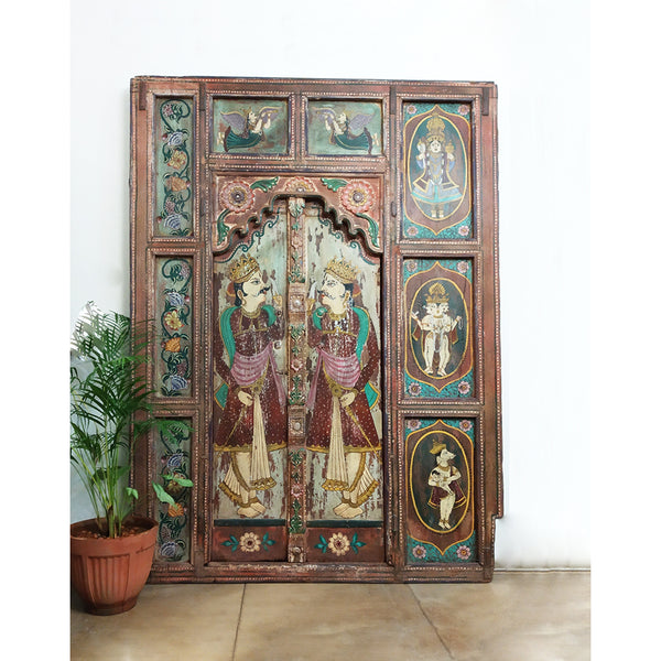 Painted Antique Wooden Panel/Door