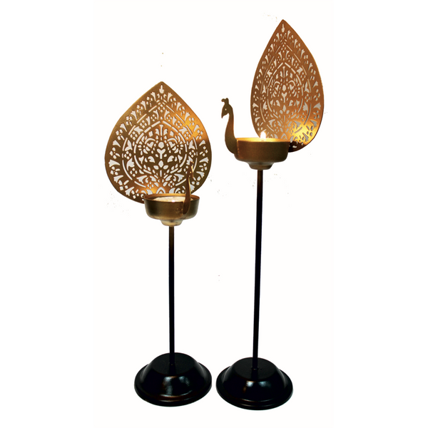 Peacock Table T-Light (Set of 2)