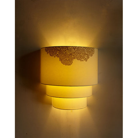Rangoli Print Triple Wall Light