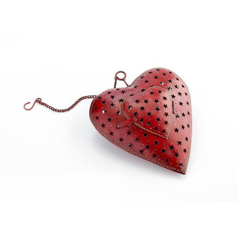Red Heart T-light holder
