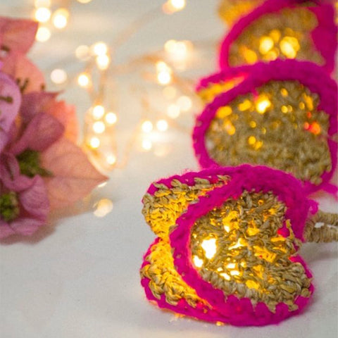 Bougainvillea Crochet String Light